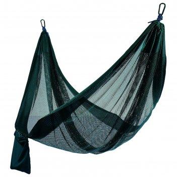Гамак 260 х 140 см, нейлон, цвет зелёный