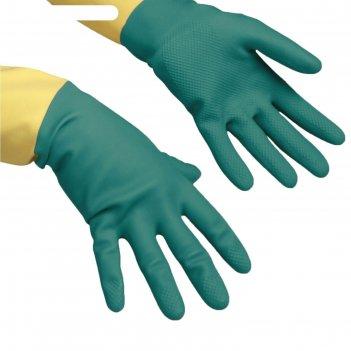 Перчатки vilenda для профессиональной уборки, усиленные l, цвет зелёный