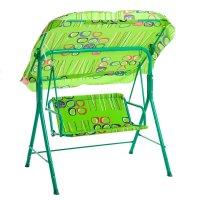 Качели садовые детские 114*76*114 см зеленые