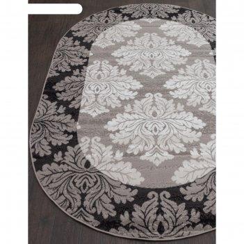 Овальный ковёр silver d213, 180x350 см, цвет gray