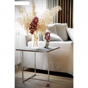 Стол журнальный «бекко», 500 x 500 x 500 мм, мдф, цвет серый мрамор