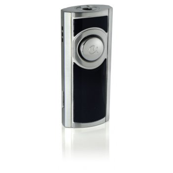 Зажигалка caseti газовая турбо, матовый черный + жемчужный хро