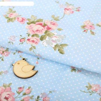 Ткань для пэчворка 100% хлопок «цветочное настроение», 50 x 85 см