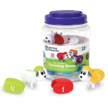 Развивающая игрушка разноцветные овечки 20 элементов ler6712