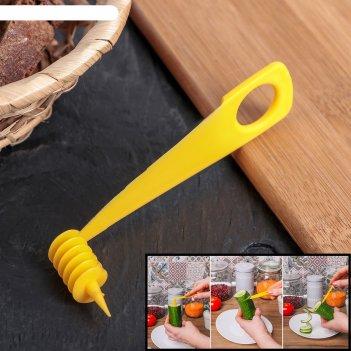 Нож для нарезки спиралью, цвет микс