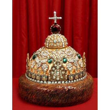 Штоф шапка мономаха (цвет. с золотом со стразами) 3л