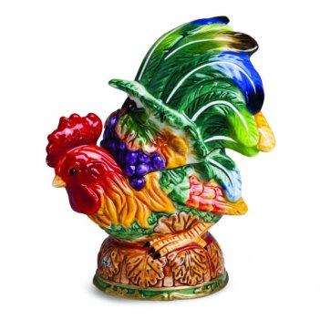 Шкатулка lamart palais royal петушок 14см, керамика