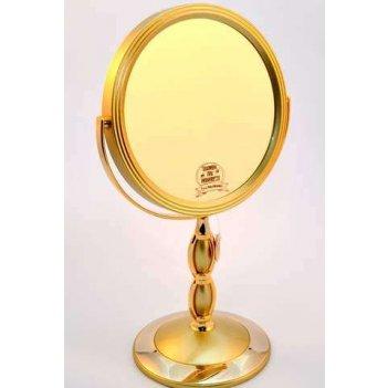 Зеркало b7 8066 g5/g gold наст. кругл. 2-стор. 5-кр.ув.18 см