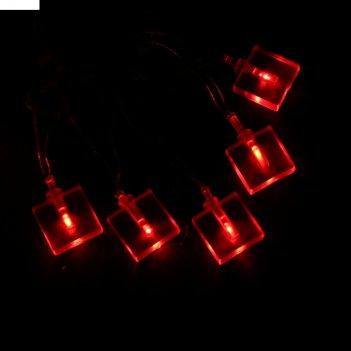 "Гирлянда метраж с насадкой кубики"" 10 м, силикон, led 70-220v, контр. 8р.,"