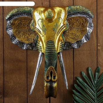 Панно настенное голова слона 33х13х40 см