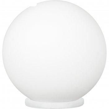 Настольная лампа rondo 1x60вт e27 серебро 20x20x20см