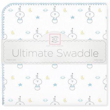 Пеленка фланель для новорожденного swaddledesigns ultimate space friend bl