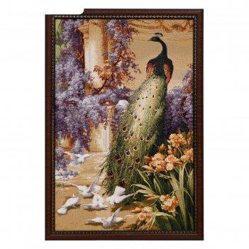 Гобеленовая картина королевский павлин