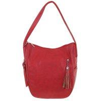 Сумка-рюкзак молодежная на молнии, регулируемцй ремень, бордо
