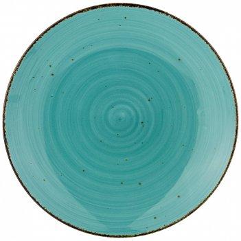 Тарелка закусочная nature 22,5см, бирюзовая (мал=4/кор=24шт.)