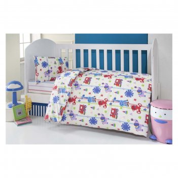 Комплект в кроватку игрушки, 6 предметов, цвет бежевый