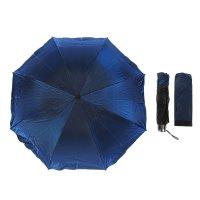 Зонт механический хамелеон, r=48см, цвет синий