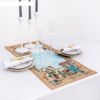Дорожка на стол этель италия  30х70 см, 100% хл, саржа 190 гр/м2