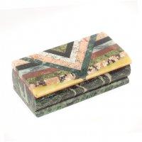 Шкатулка мозаика 14,5х7х4,5 см