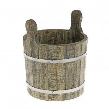 Запарник-ушат 8 литров, цвет венге, липа добрая баня