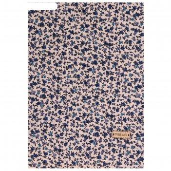 Ткань на клеевой основе «синие цветочки», 21 х 30 см