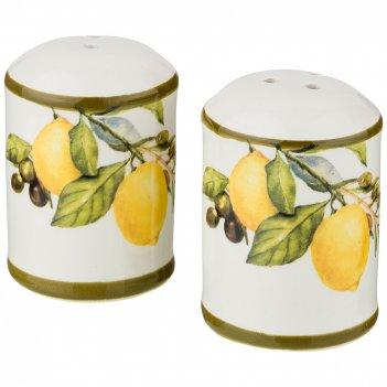 Набор для специй лемон три 2пр. 4,5*4,5 см. высота=6,5 см. (кор=60наб.)