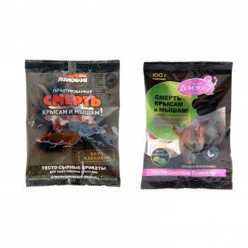 Тестосырный брикет со вкусом карамели, домовой прошка, пакет 100 г