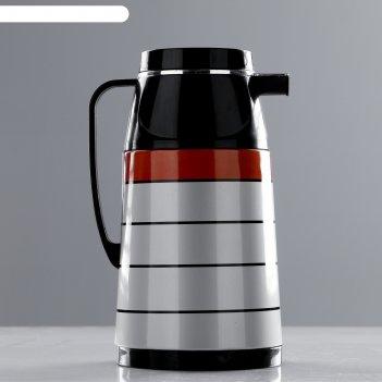 Кофейник термос волна, 1 л, сохраняет тепло 10 ч, 15х24 см, микс