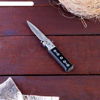 Нож складной автоматический мастер к., рукоять хромированная (с кнопкой, ф