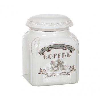 """Банка для сыпучих продуктов """"кофе"""" высота=14,5 см."""