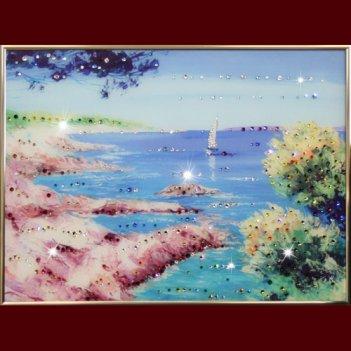 Картина сваровски - морской пейзаж