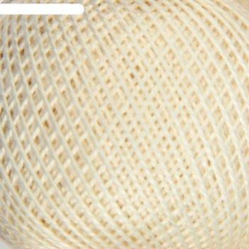 Нитки вязальные ирис 150м/25гр 100% мерсеризованный хлопок цвет 0102