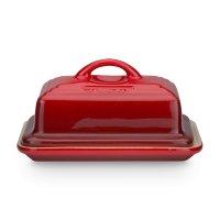 Масленка с крышкой, размер: 17 х 12,5 см, материал: керамика, цвет: красны