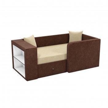 Детский диван «орнелла», механизм выкатной, микровельвет, цвет бежевый / к