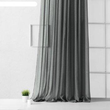 Портьера «виви», размер 500 x 270 см, цвет серый