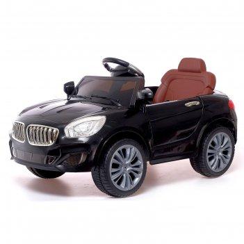Электромобиль «купе», с радиоуправлением, свет и звук, цвет чёрный