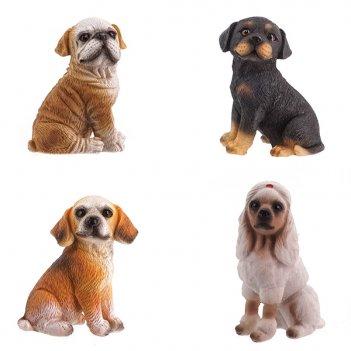 Фигурка декоративная собака, h7 см, 4 в. (без инд.упаковки)