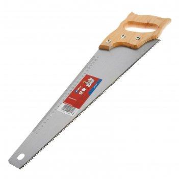 Ножовка по дереву top tools, 450 мм, 7tpi, линейка, деревянная рукоятка