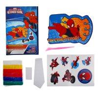 Аппликация пластилином ты супергерой! (6 цветов), человек-паук, +наклейки