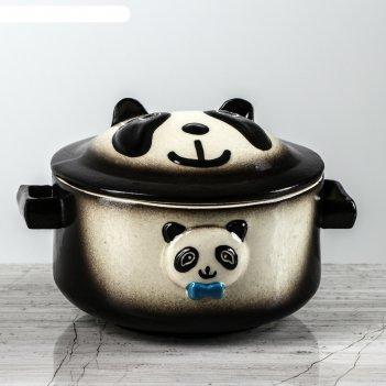 Горшок для запекания панда черный
