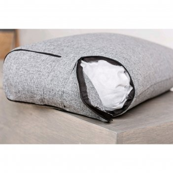 Болстер прямоугольный, 62х32х14 см, цвет серый
