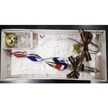 Подарочный набор для письма: перьевая ручка, чернила, закладка 22*9*2см