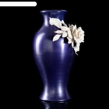 Ваза white rose snello, синяя