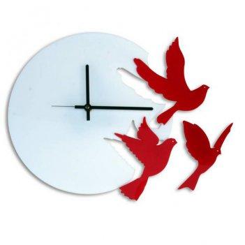 Часы настенные летящие птицы cl191б 37х40см