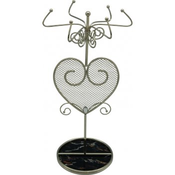 """Подставка для украшений  jardin dete  """"мрамор"""", сталь, стекло, 1"""