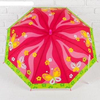 Зонт детский бабочки, d=80