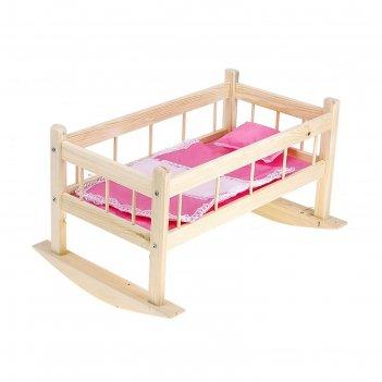 Кроватка для кукол 9, цвета микс