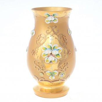 Ваза bohemia лепка золотая e-s 22 см