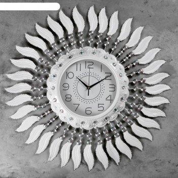 Часы настенные, серия: ажур, клементе  d=70 см, d=24 см, 1 аа, плавный ход