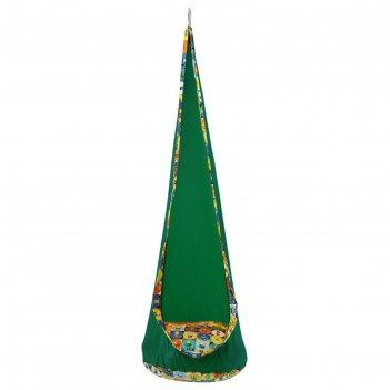 Кресло подвесное «кокон», высота 150 см, диаметр 50 см, цвет зелёный